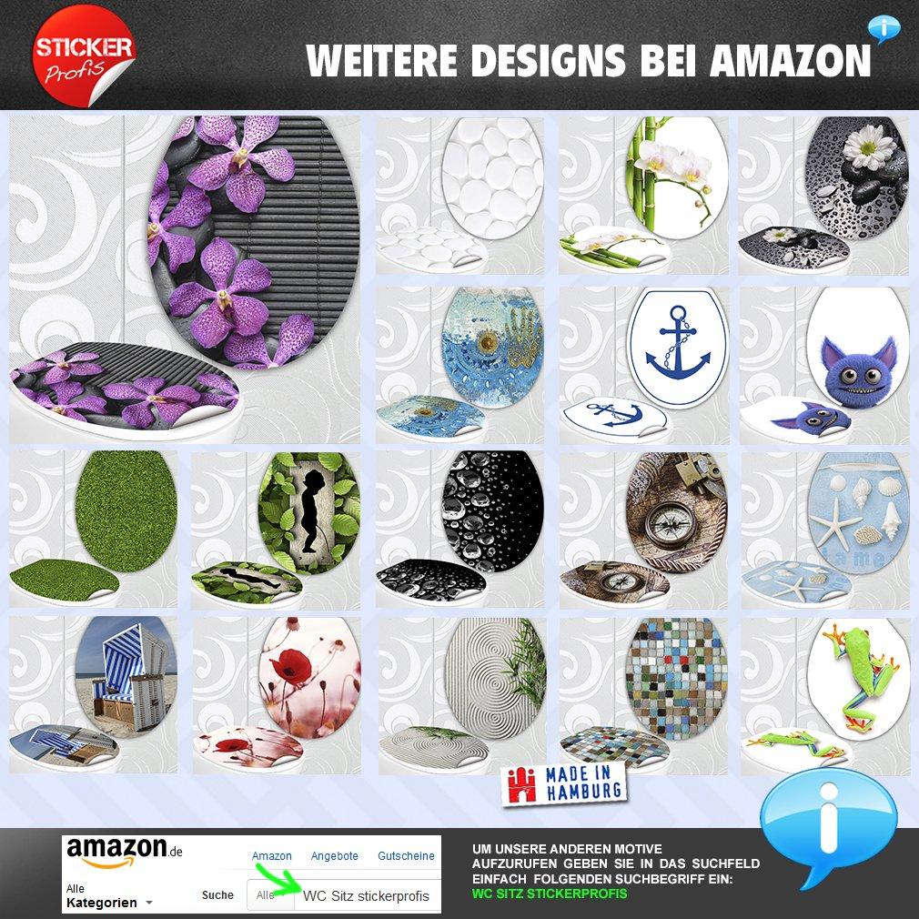 StickerProfis Si/ège de WC Motif Tortue dans la baignoire Design D/écor pour couvercle Couvercle Toilettes autocollant