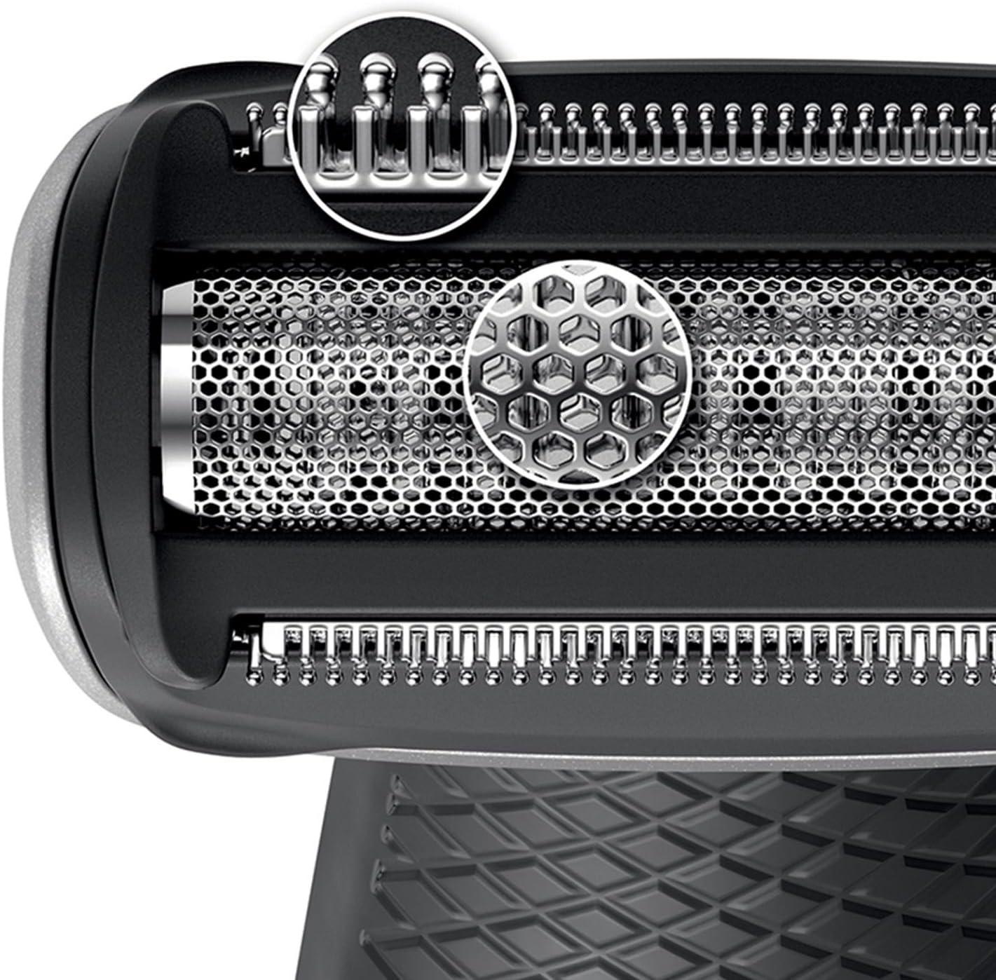 Philips BodyGroom Serie 5000 BG2036/32 - Afeitadora corporal sin cable. Uso en mojado y en seco. Con brazo extensible para afeitar la espalda