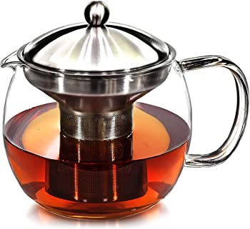 Willow & Everett Clear Glass Teapot with Infuser