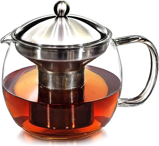Willow & Everett Cafetera tetera con infusor de té caliente - pote ...