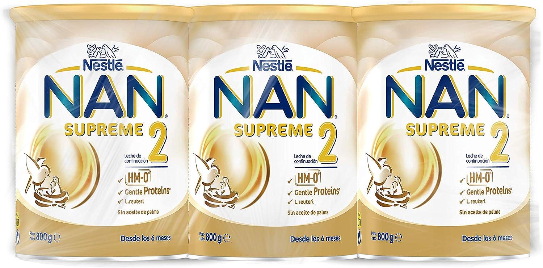Nan Supreme 2 Leche De Continuación En Polvo Premium - 3 latas x 800 g
