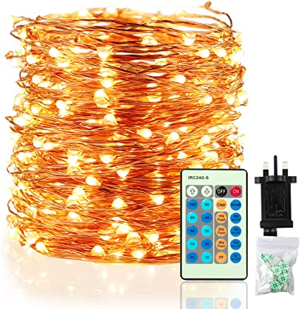 LED Fairy Lights 300er Warm White-Green 30m Exterior ba11711