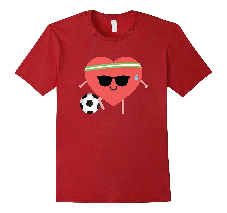Soccer Heart Emoji Sunglasses Shirt T-Shirt Football Tee
