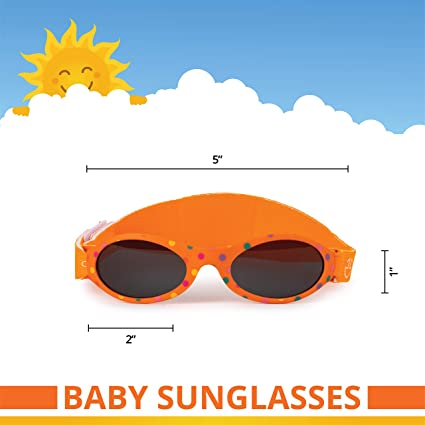 Baby Sunglasses with strap- Infant, Toddler Boy & Girl 0-12 month- Age 3, UV 400