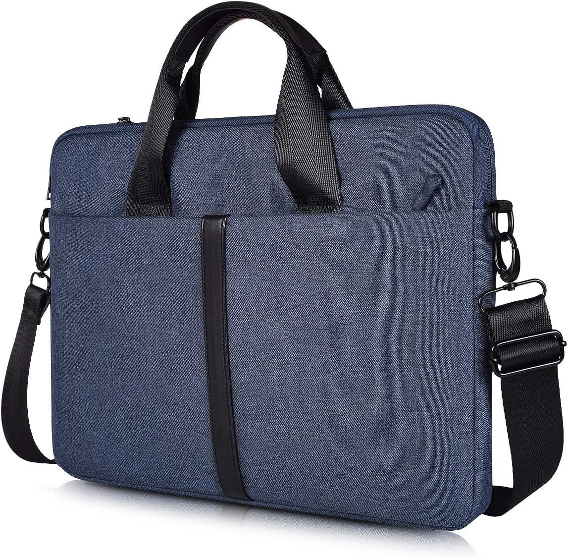 17.3 inch Laptop Shoulder Bag for HP 17.3 Laptop/Pavilion 17/ENVY 17/PROBOOK 17, Acer Aspire 17.3, Dell Inspiron 17 3000 5000, ASUS ROG, Slim & Lightweight Case for Travel, School, Office, Navy Blue