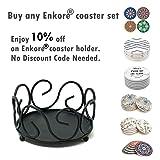 ENKORE Black Iron Metal Coaster Holder For 4 to 8