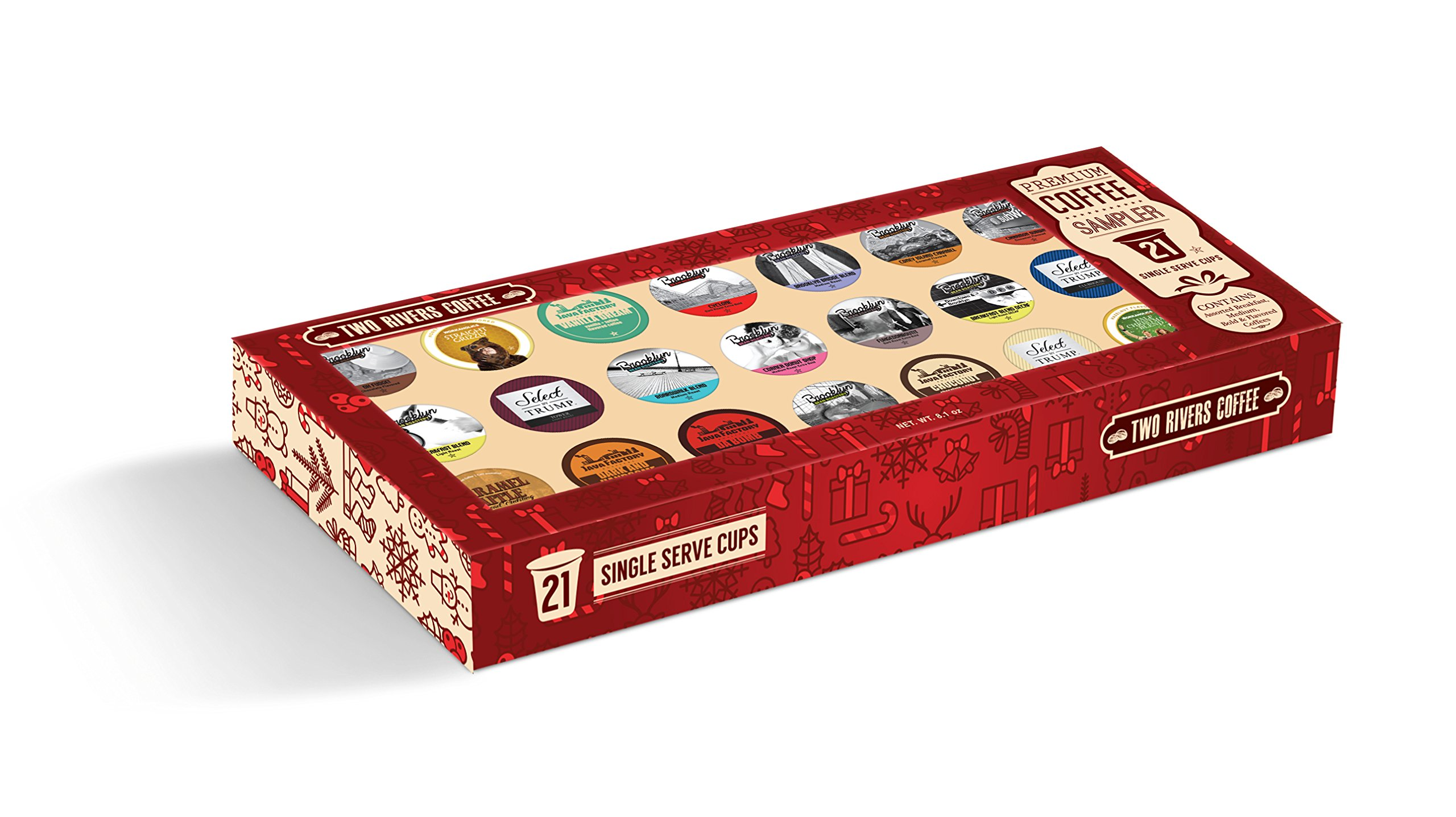 TRC Premium Coffee Only Single Serve Gift Box for Keurig K-Cup Brewers, 21 Count