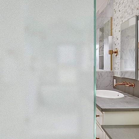 2pcs UV Resistance Bedroom Bathroom Privacy Glass Window Film Mosaic Sticker