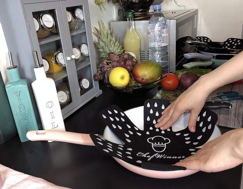 Mantenga Limpio y Extienda la Vida /Útil de Sus Utensilios de Cocina Woks Estufas Gris Tazones Envases Protector Sartenes y Ollas Esenciales para Evitar Ara/ñazos Sartenes Cacerolas