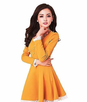 c441d6397d70a Vimmi Style Women's Fabric Knee Length One Piece Western Wear Dress ...