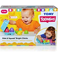 TOMY 30693081 Hide & Squeak Bright Chicks Nesting Eggs Toy