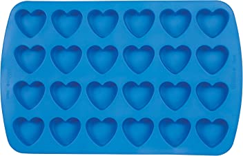 Wilton Easy-Flex Silicone Heart Mold, 24-Cavity for Ice Cubes, Gelatine