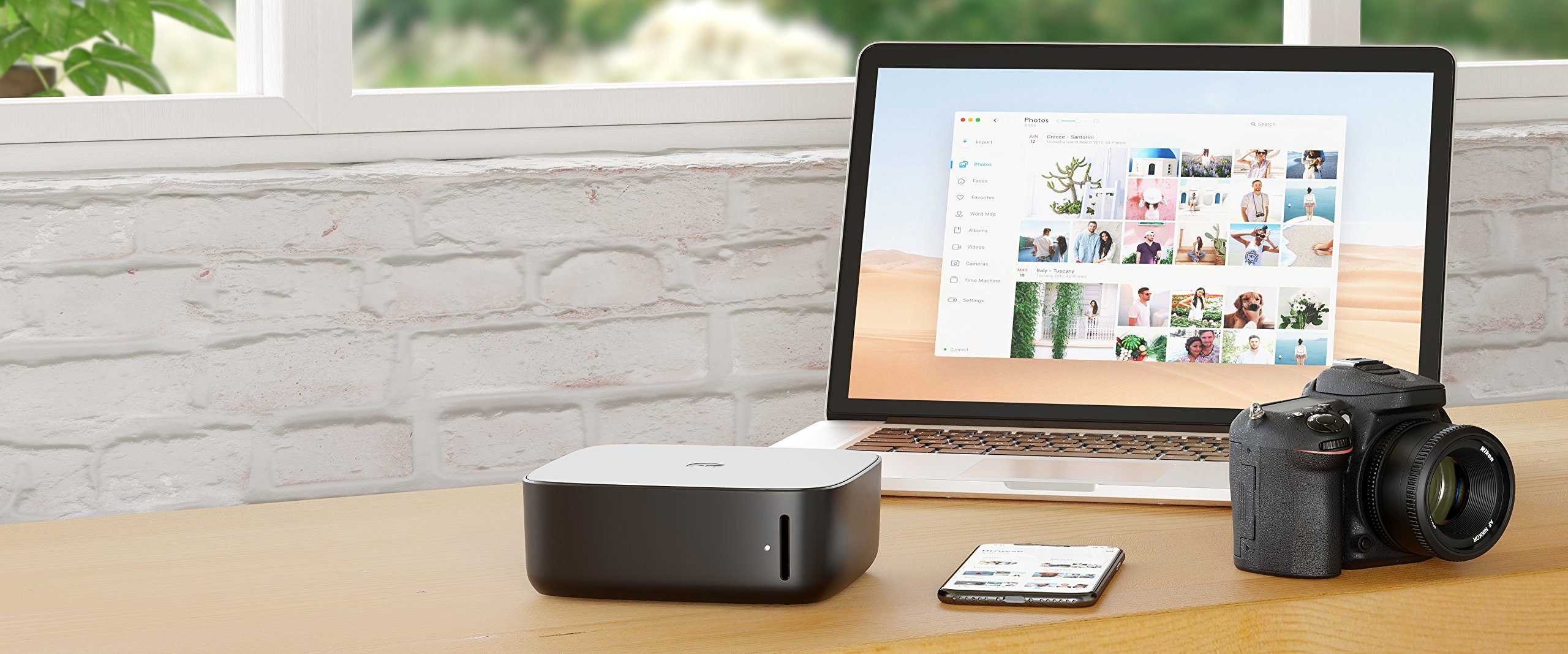 Monument Photo Management Device - Automatically Back up and Organize All of Your Photos & Videos. No Monthly fees. 7 Organizes your photos with Artificial Intelligence (5 users / Unlimited Devices) Backs up photos over Wi-Fi or Gigabit Ethernet in seconds Creates automated backups