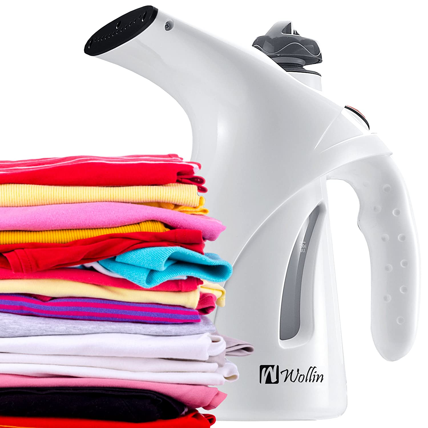 Clothes Steamer - Garment Fabric Handheld Compact For Travel & Home -Window Steamer - Fast Heat Up - Ideal For Clothes, Curtains, Carpets - Spit Free – Brush Nozzle Included – ETL Certificate