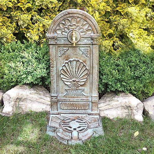 Antikas - Fuentes de Agua Decorativas Exterior - Fuente Nostalgia de Hierro Fundido - Fuentes de jardín: Amazon.es: Jardín