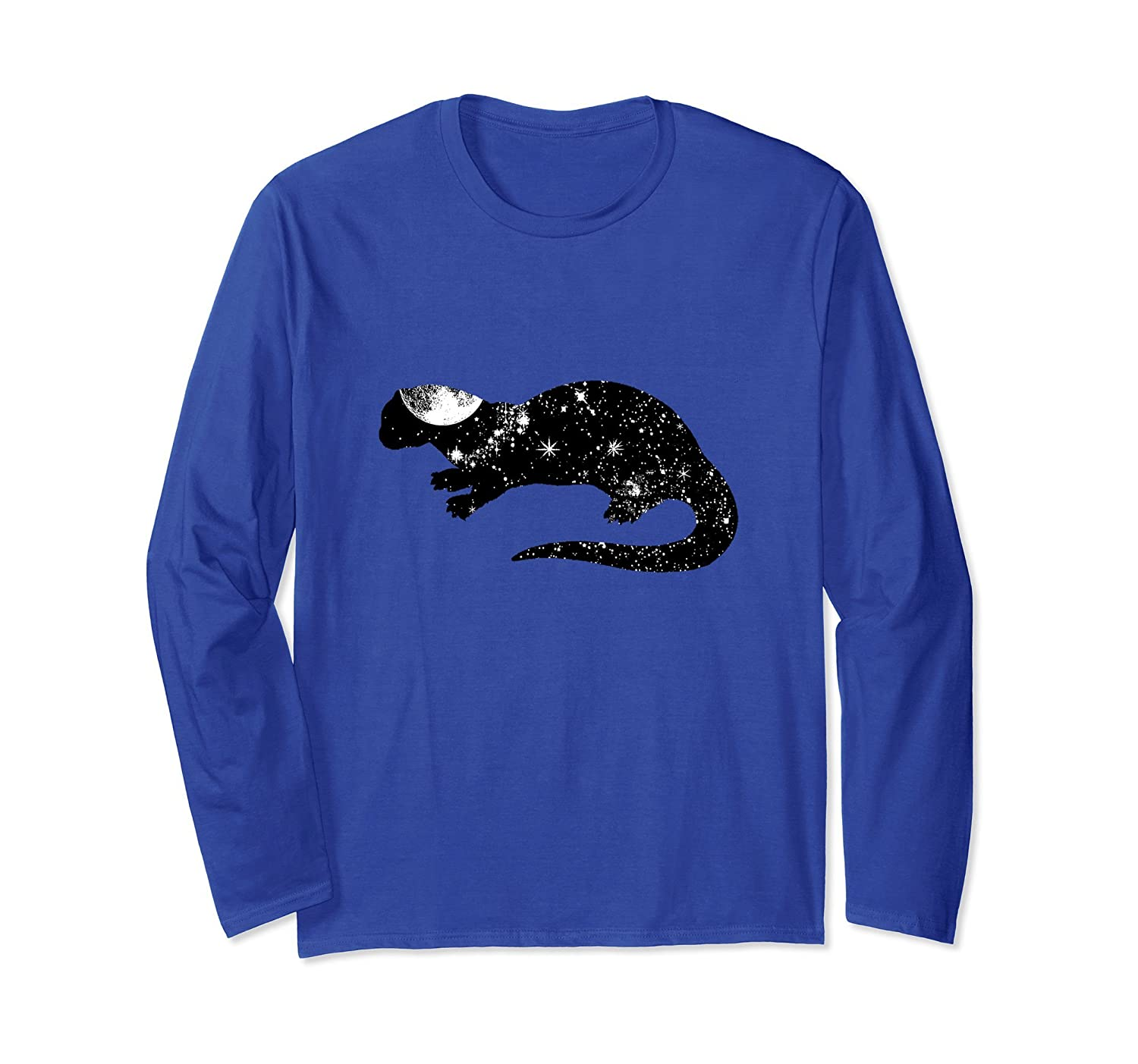 Awesome Otter Space Pun Long Sleeve T-Shirt - Mens & Womens-mt