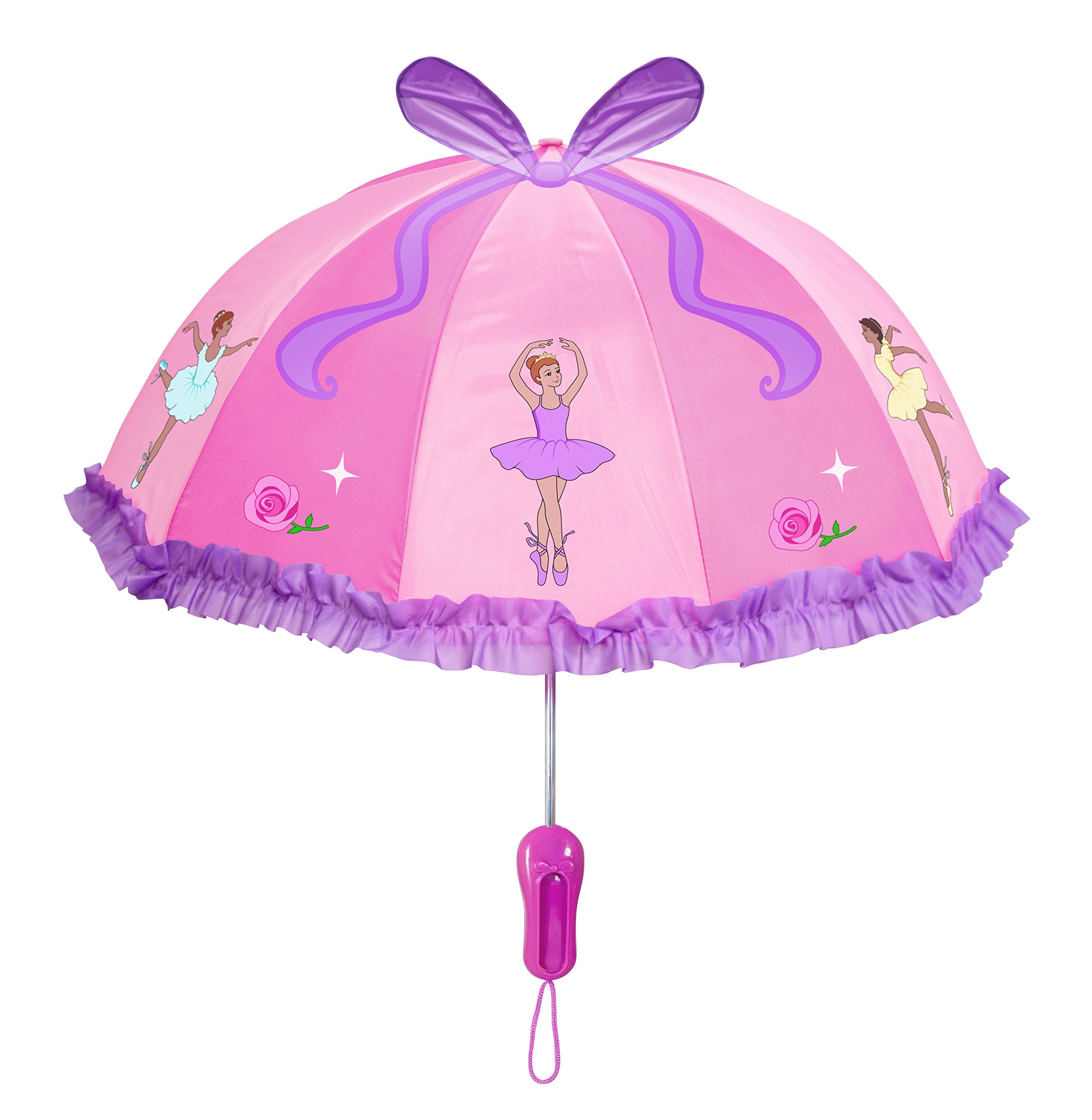 Kidorable Little Girls'Ballerina Umbrellas, Pink, One Size