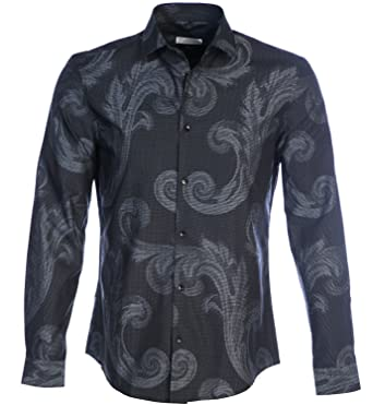 f59dcf77 Amazon.com: Versace Collection Baroque Print Shirt in Grey: Clothing