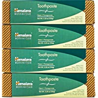 Himalaya Neem and Pomegranate Toothpaste, Natural, Fluoride-Free, SLS Free, Gluten Free & Saccharin Free, 5.29 oz (150 g), 4 PACK
