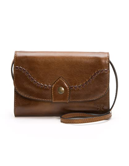 FRYE womens DB761 Melissa Whipstitch Wallet Crossbody Clutch brown Size   One Size 89740a4a8fc66