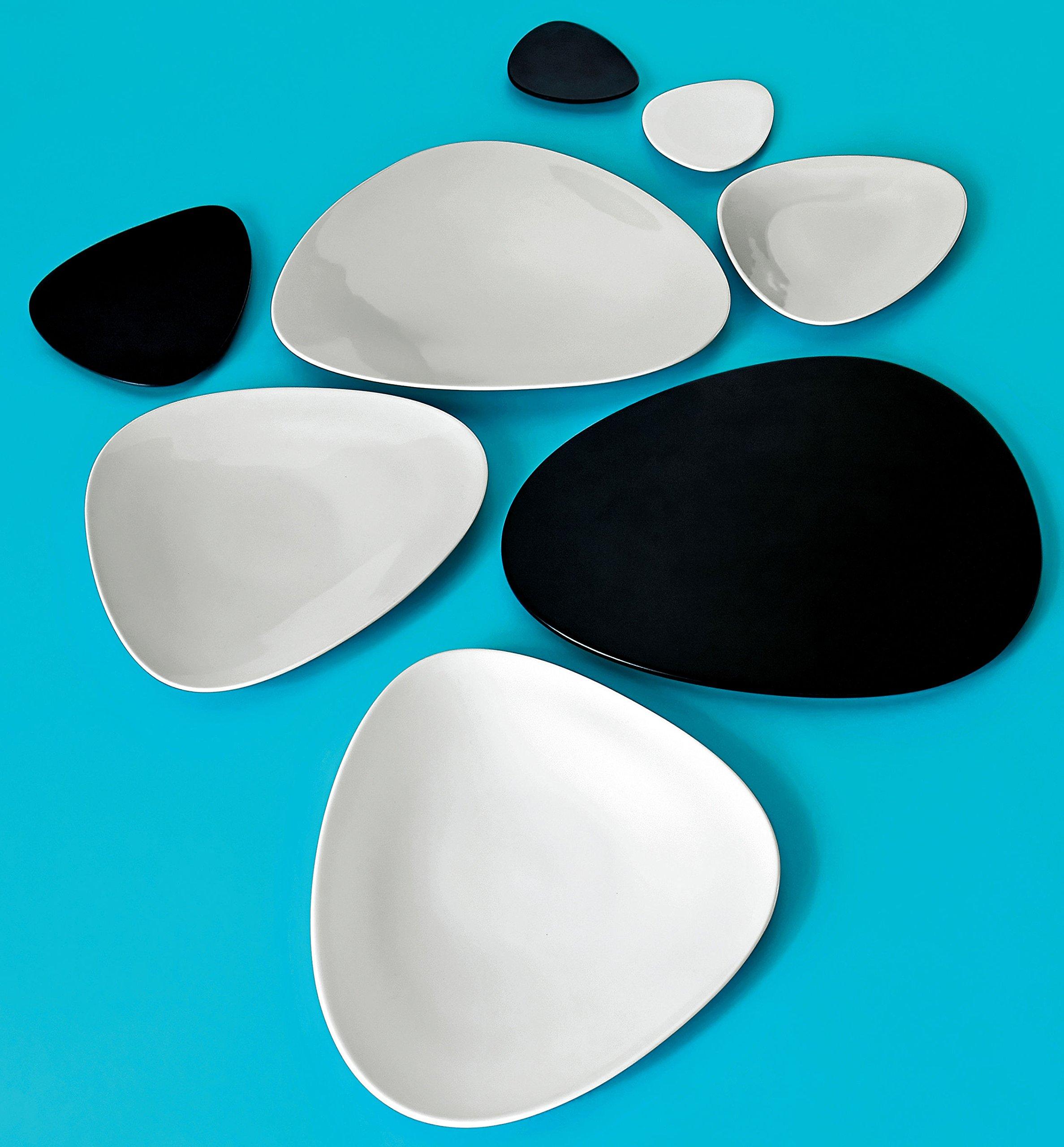 Colombina Porcelain 7.28'' Large Saucer [Set of 6] Color: Black