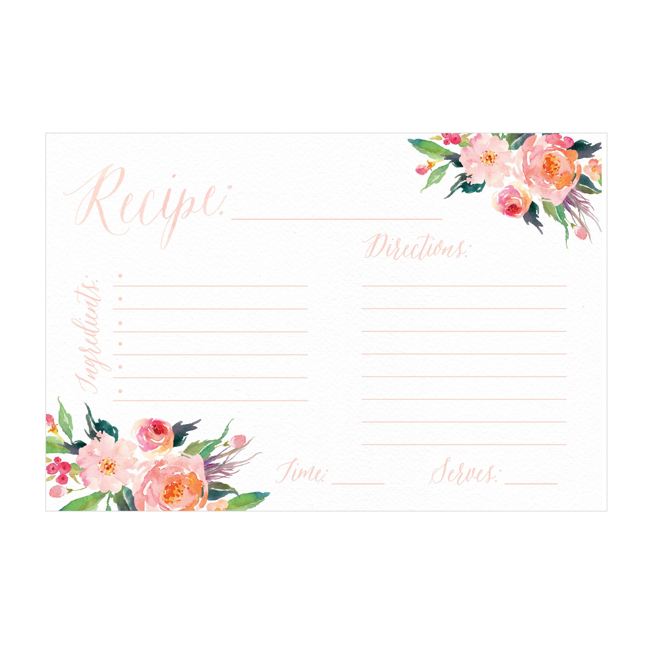 recipe cards blank 4x6 card amazon bridal shower order overview