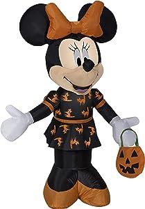 Gemmy 3.5' Airblown Minnie in Black and Orange Dress Halloween Inflatable