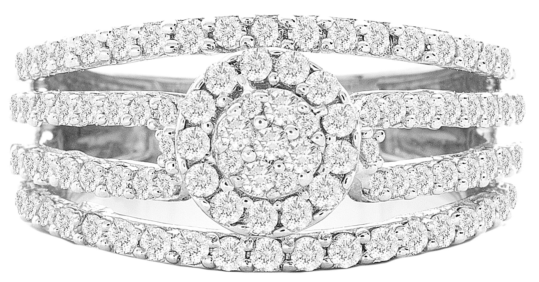 1.24ctw Excellent Cut Round Diamond (H-1 color, i1 - i2 clarity) in 14k Gold Fashion Ring