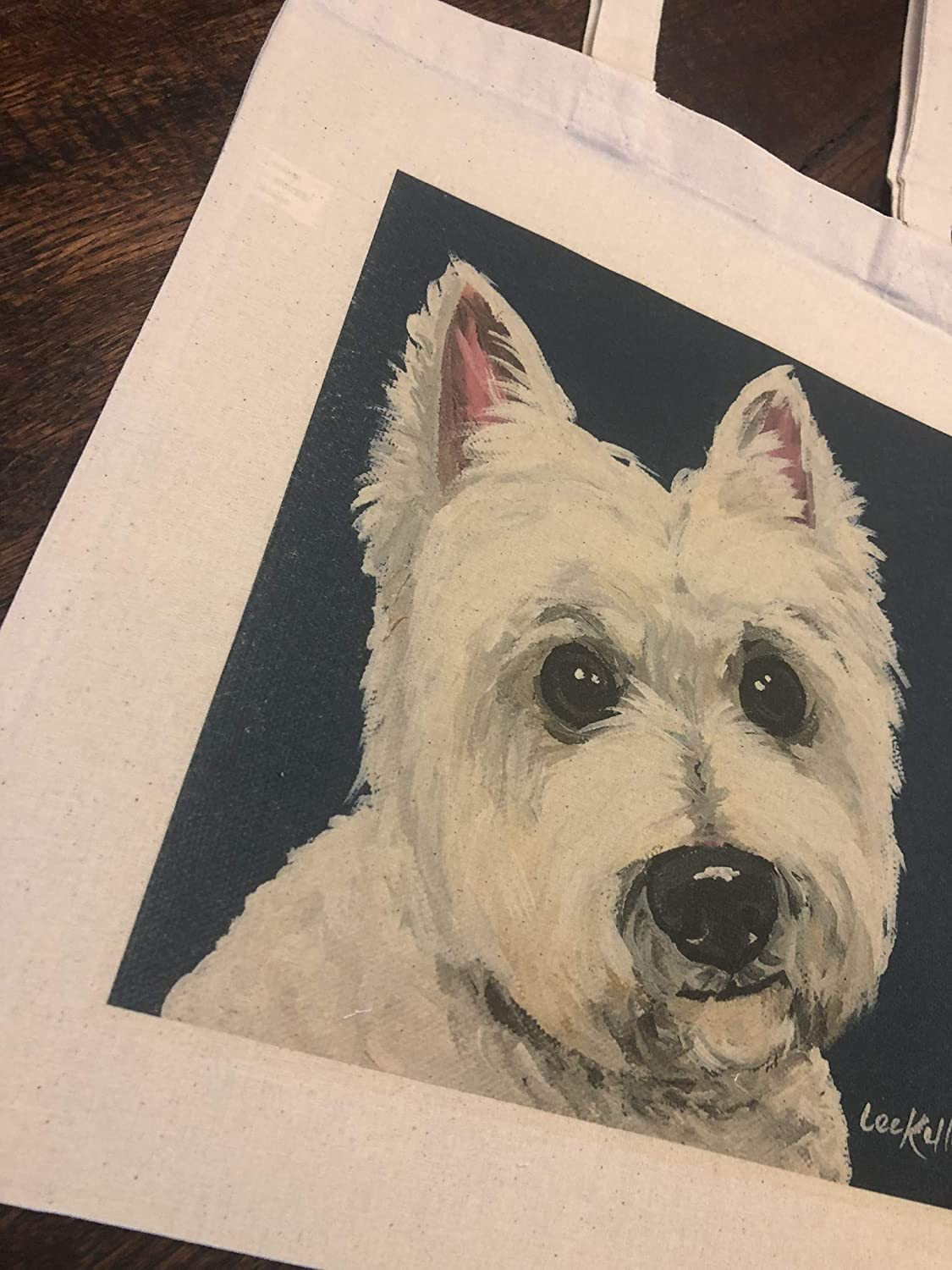 Royal West Highland Terrier Natural or Black Canvas Tote Selection of sizes available