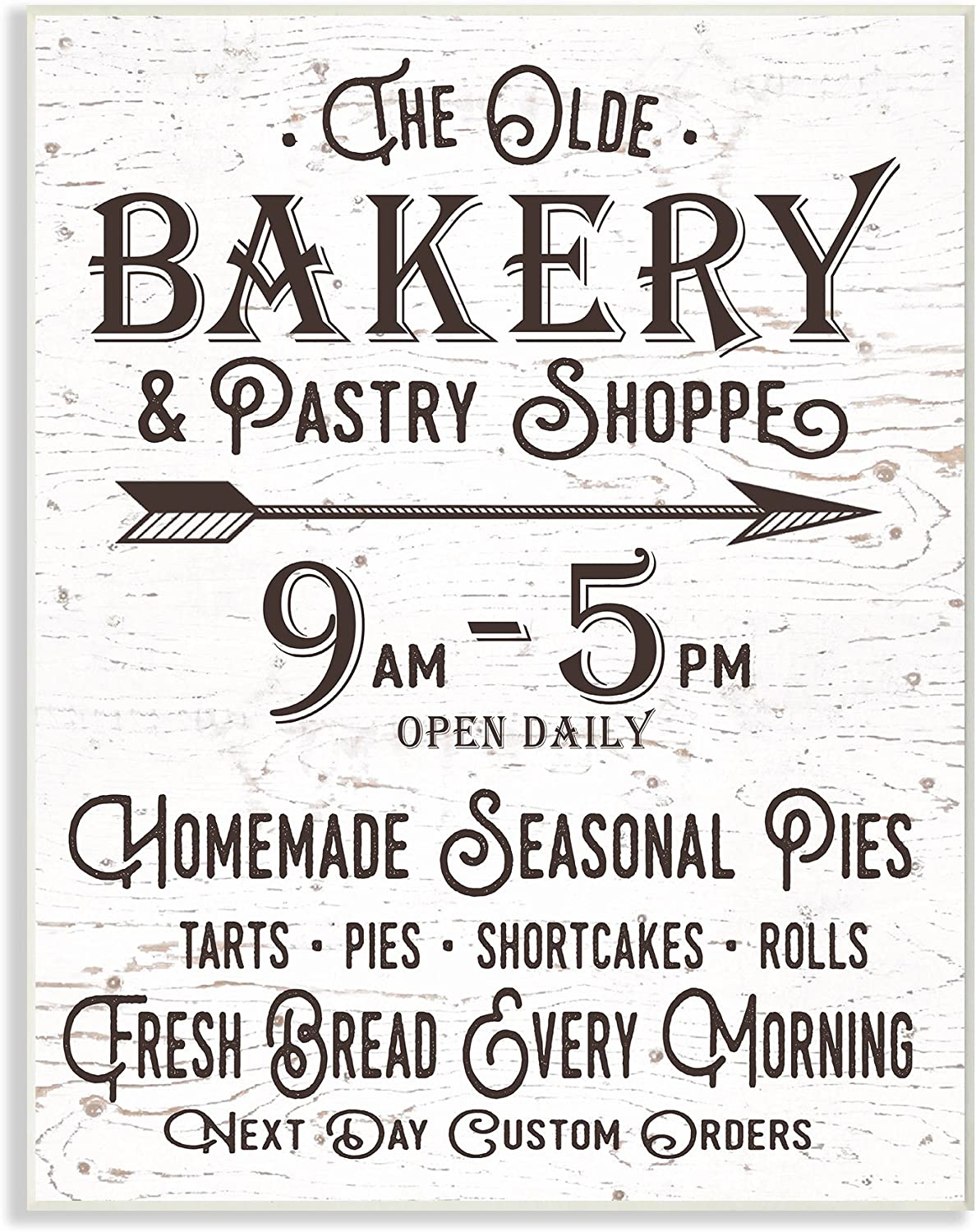 Stupell Industries The Old Bakery and Pasty Shop Vintage Sign Wall Plaque, 10 x 15, Multi-Color