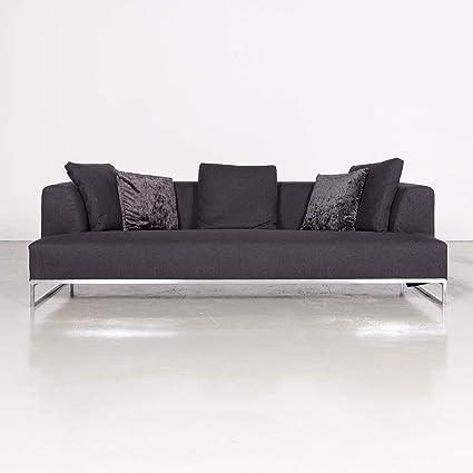 Amazon Com B B Italia Solo Anthracite Gray Fabric Sofa Three
