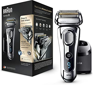 Braun 9297 Series 9 - Afeitadora Eléctrica, Máquina de Afeitar Barba en Seco y Mojado, Recortadora de Precisión Integrada, Recargable, color Cromo: Amazon.es: Salud y ...