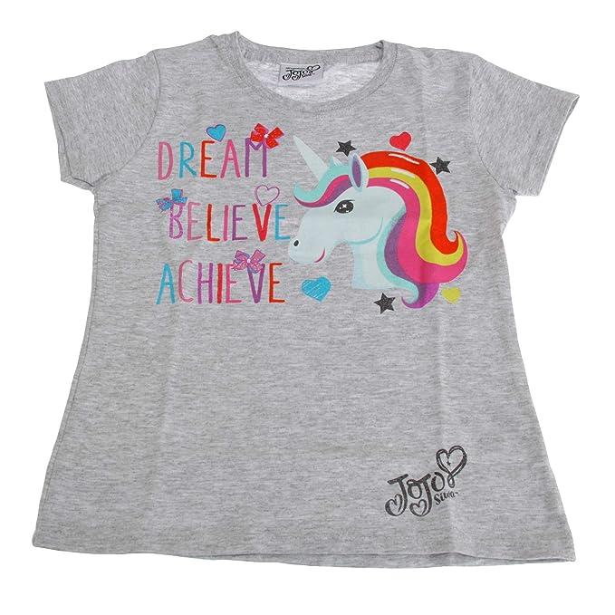 Jojo Siwa - Camiseta con diseño de Unicornio Modelo Dream Believe Achieve para niños y niñas: Amazon.es: Ropa y accesorios