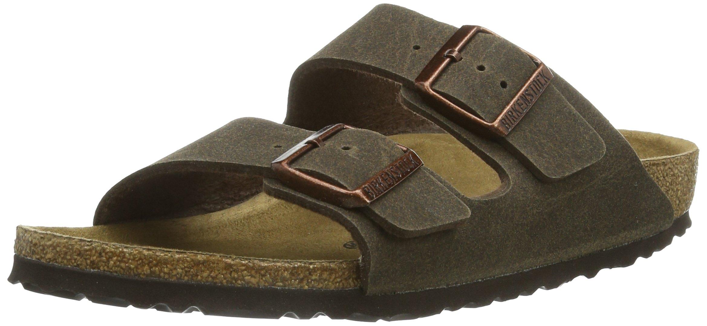 Birkenstock Women's Arizona  Birko-Flo Cacao Microfiber Sandals - 45 M EU / 12-12.5 D(M) US