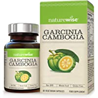 Garcinia Cambogia from NatureWise - High Strength & Pure for Optimum Results - Premium Blend of Vitamins Plus Nutrients Help Curb Appetite, Promote Fat Burning, Slimming - 2 Months Supply/60 Count