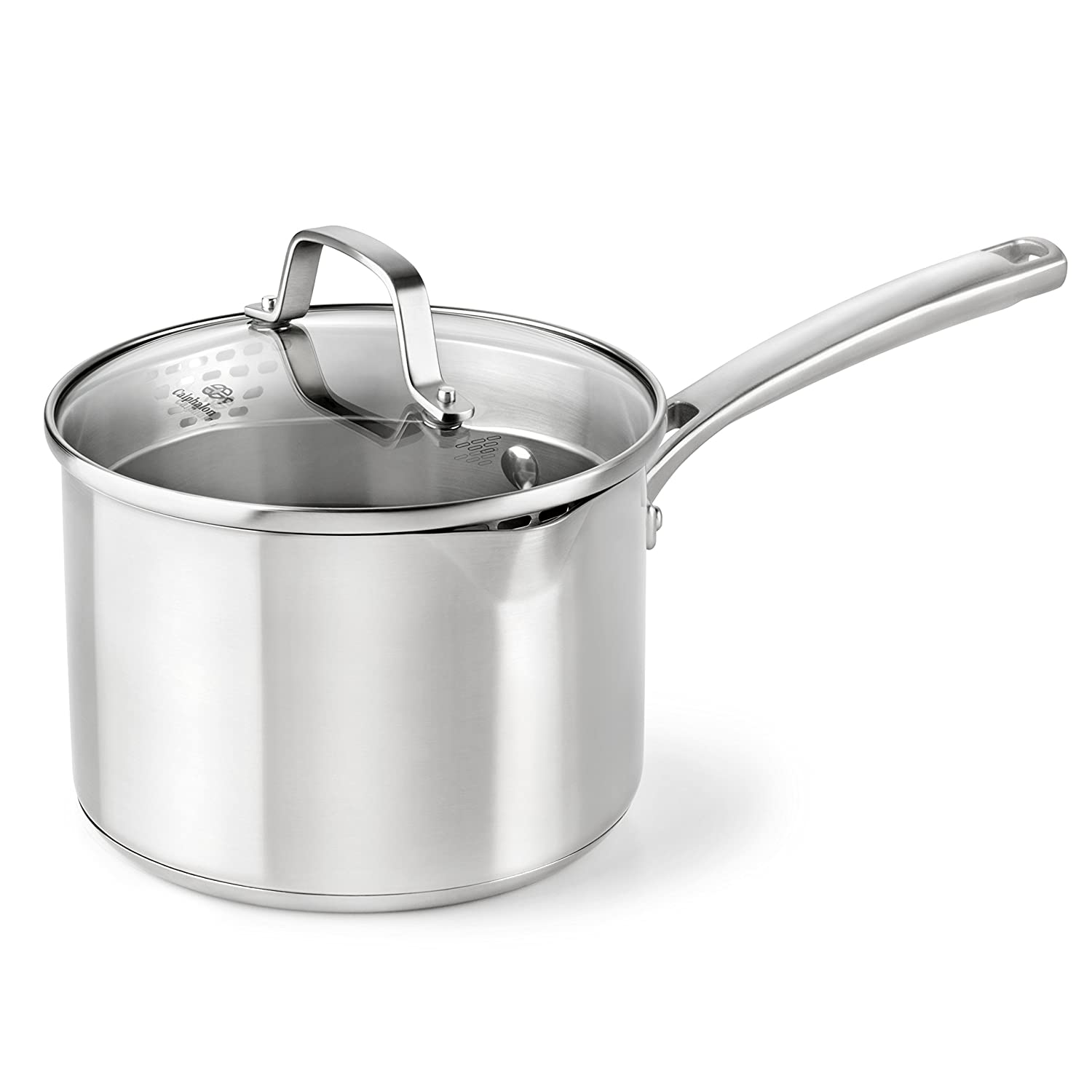 Calphalon Classic Stainless Steel Cookware, Sauce Pan, 3 1/2-quart