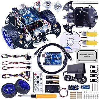 Robot Arduino, Quimat Coche Robótica con Tutorial de Vídeo en Castellano,UNO R3 Board, Control Remoto Bluetooth