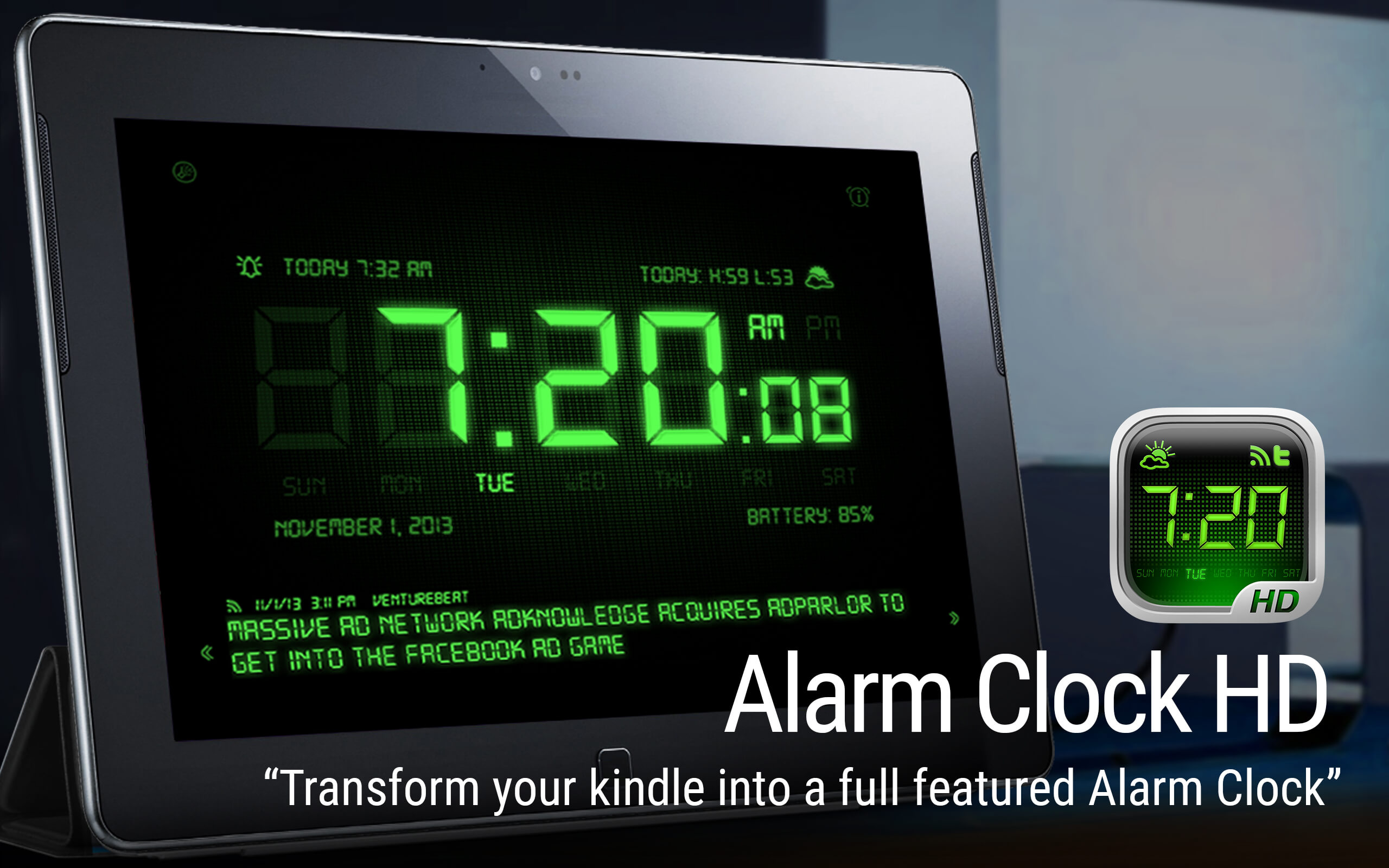 alarm clock hd appstore for android. Black Bedroom Furniture Sets. Home Design Ideas