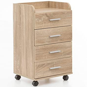 KS-Furniture WL5.749 - Cajonera con Ruedas (40 x 70,5 x 33 ...
