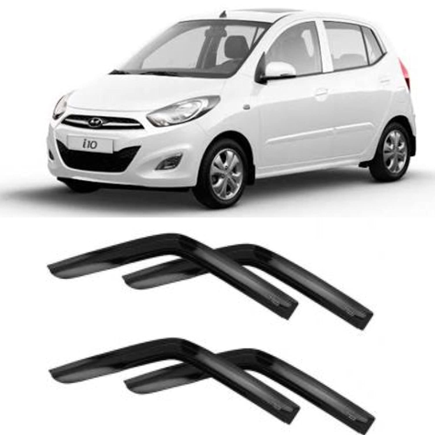 DEALS KING premium DOOR VISOR SUN VISOR WIND DEFLECTOR FOR HYUNDAI I10   Amazon.in  Car   Motorbike 10690900ff0
