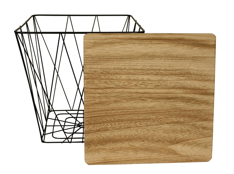 Quadratisch Metall Draht kleinen Nachttisch, gelegentlichen, Lampe ...