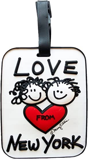 ac5d0186bf6d New York Luggage Tag Love From Heart NY 3-D Bag ID tag