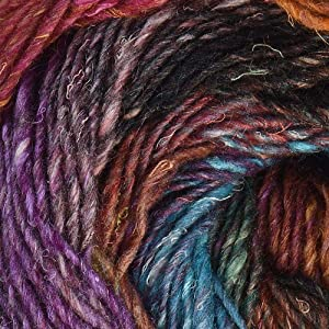 Noro Silk Garden Lite, 2159 - Purple-Browns-Wine-Pea-Sky