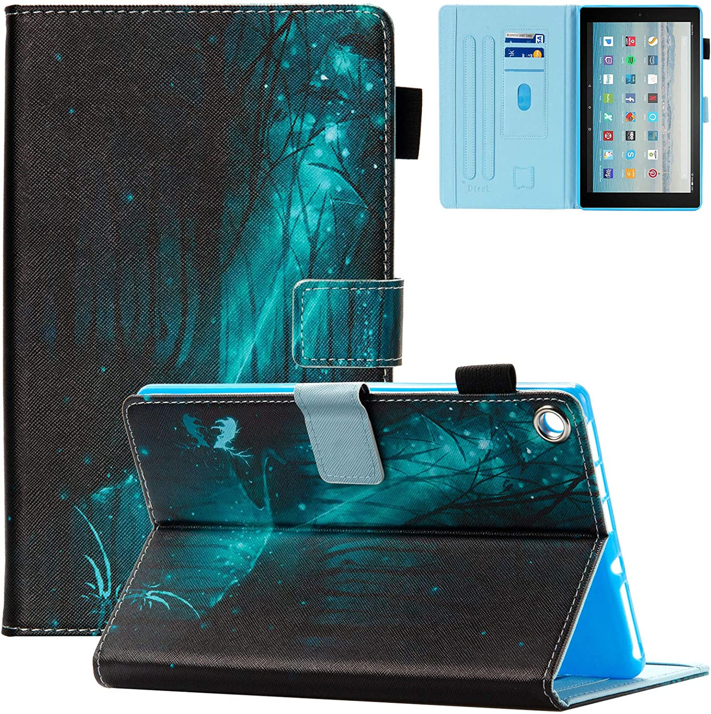 iPad Mini Case, Mini 2/3/4/5 Case, Dteck Slim Premium PU Leather Magnetic Case Folio Stand Wallet Smart Cover with Auto Wake/Sleep for Apple iPad Mini 1/ Mini 2/ Mini 3/ Mini 4/Mini 5, Green Forest