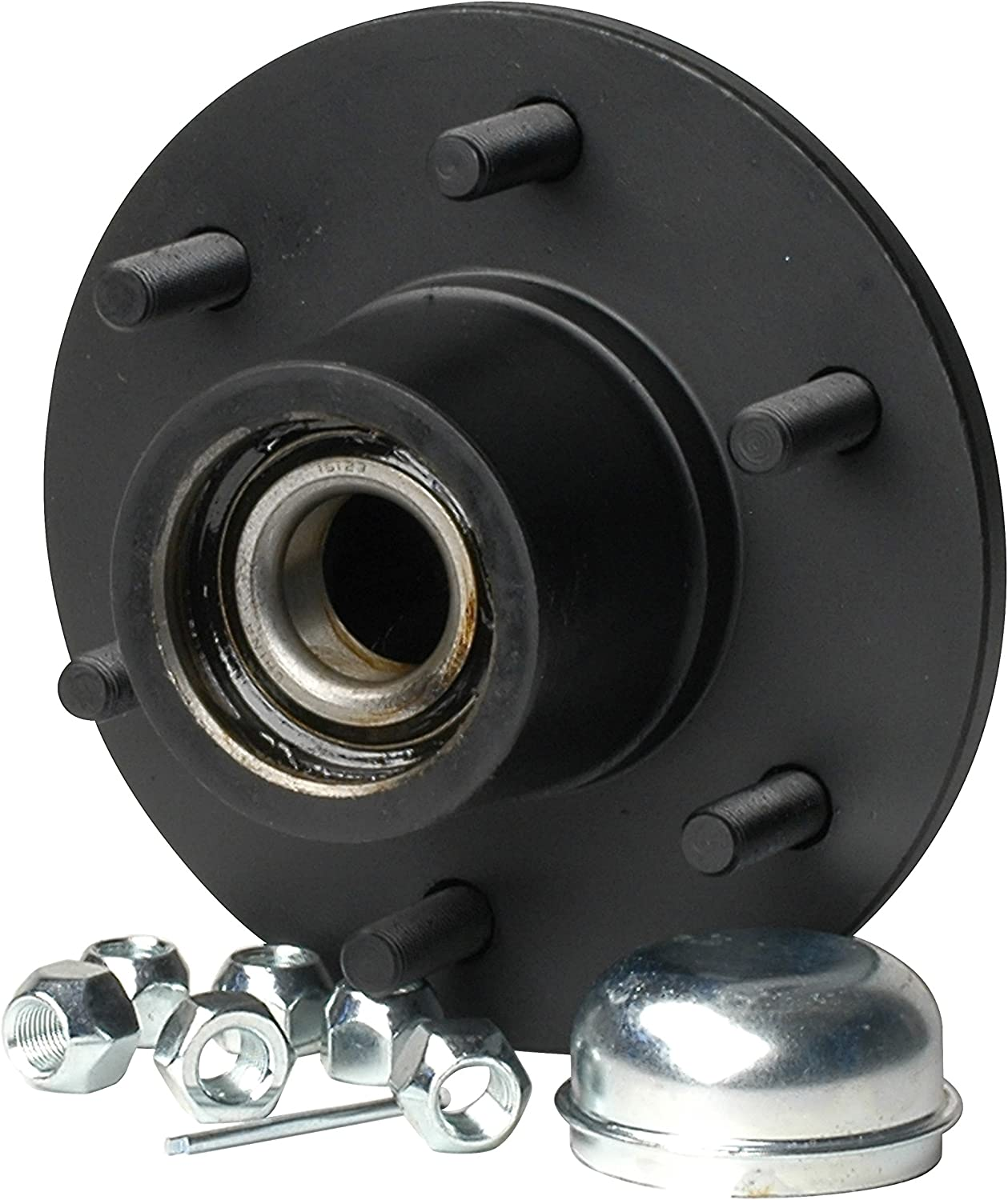 """CE Smith Trailer 13711 Trailer Hub Kit (Tapered 1 3/4"""" to 1 1/4"""" Stud (6 x 5 1/2) 12"""" Brake Size)- Replacement Parts and Accessories for your Ski Boat, Fishing Boat or Sailboat Trailer,Black"""