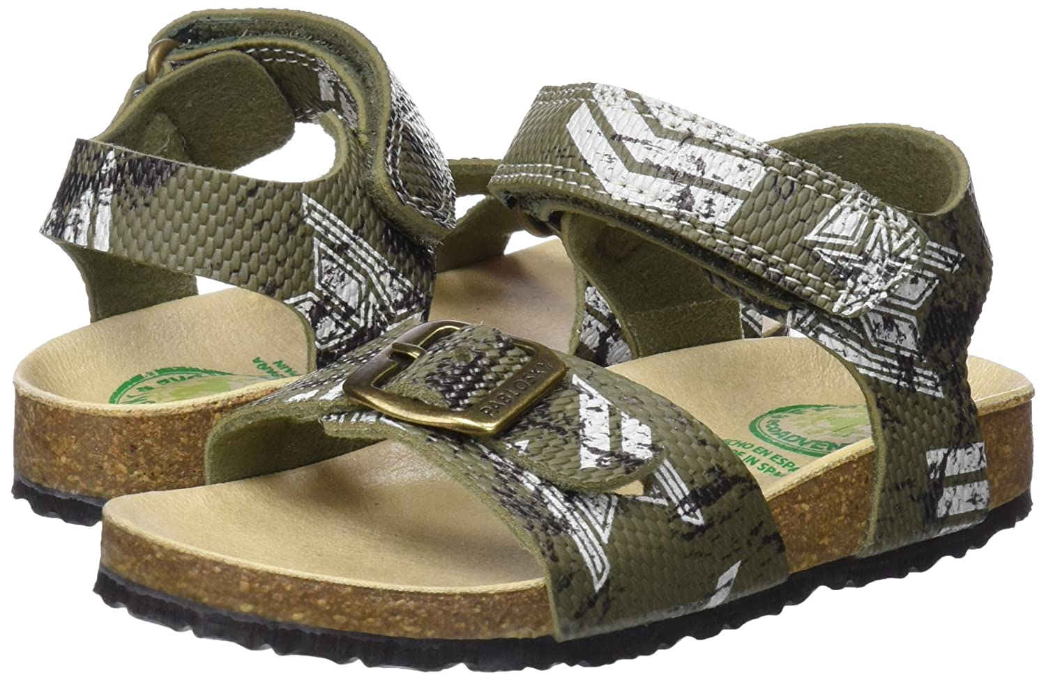 Green Pablosky Boys/' 584580 Open Toe Sandals Verde 584580 11.5 UK