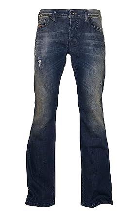 c5e19027 Diesel Boot-Cut Stretch Jeans Zathan R833F Dark Blue Dirty/Used Look (38