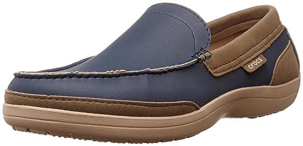 Crocs Wrap Colorlite Loafer M - Mocasines, 39-40, Azul/Tumbleweed