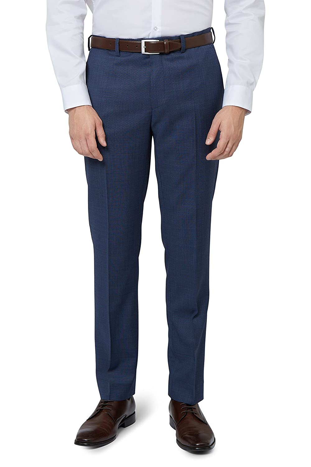 DKNY Slim Fit Blue Pinhead Trousers