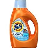 Tide Plus Downy Clean Breeze Scent Liquid Laundry Detergent, 46 oz, 24 loads